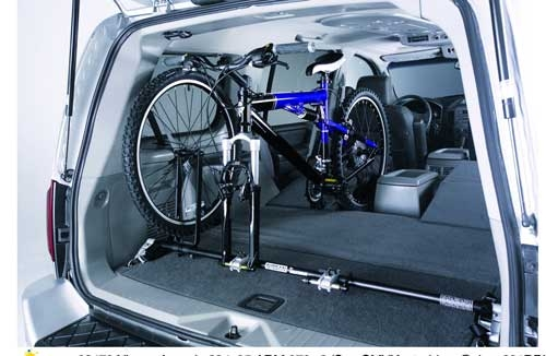 Diy xterra interior bike rack rattlesnake peak Nissan xterra bike rack interior